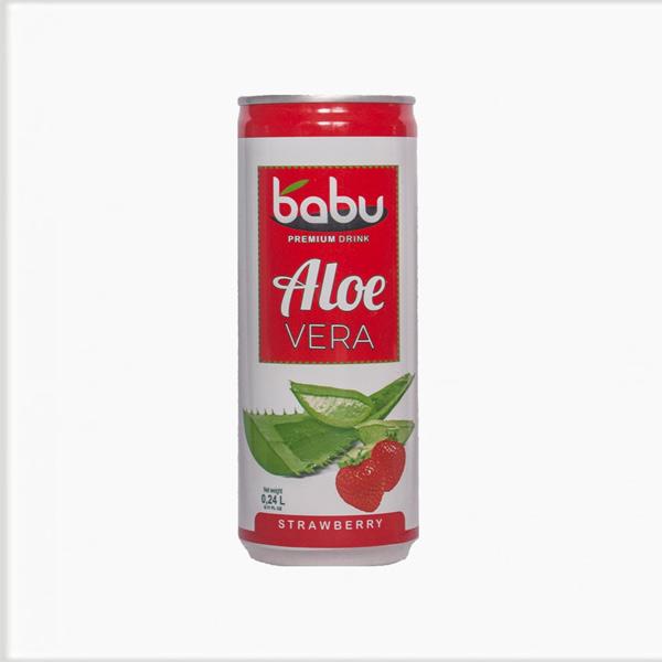 Babu - Aloe Vera Premium doză căpșuni 240 ml.