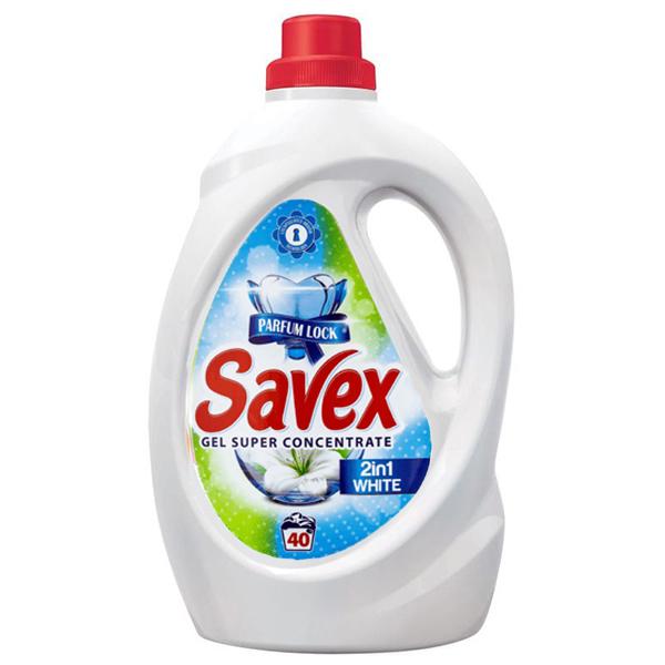 Savex - Detergent lichid 2IN1 White 2,2 L