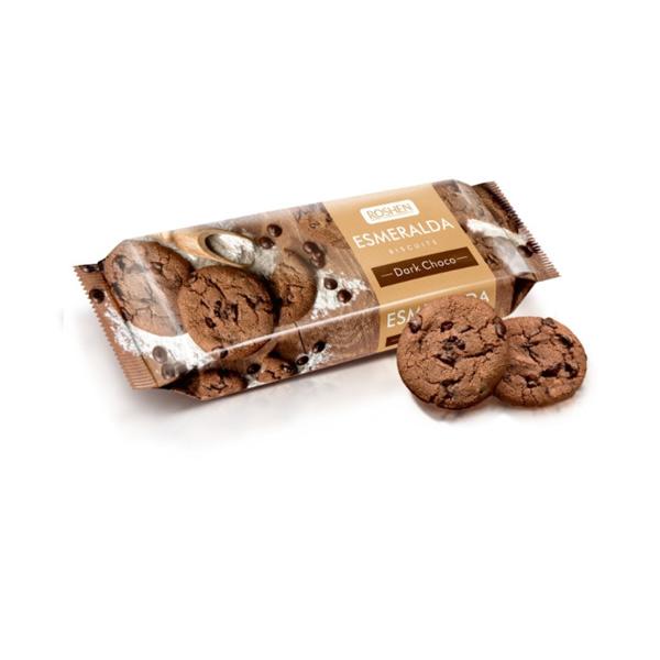 Roshen - Biscuiți Esmeralda Dark Choco 150 gr.