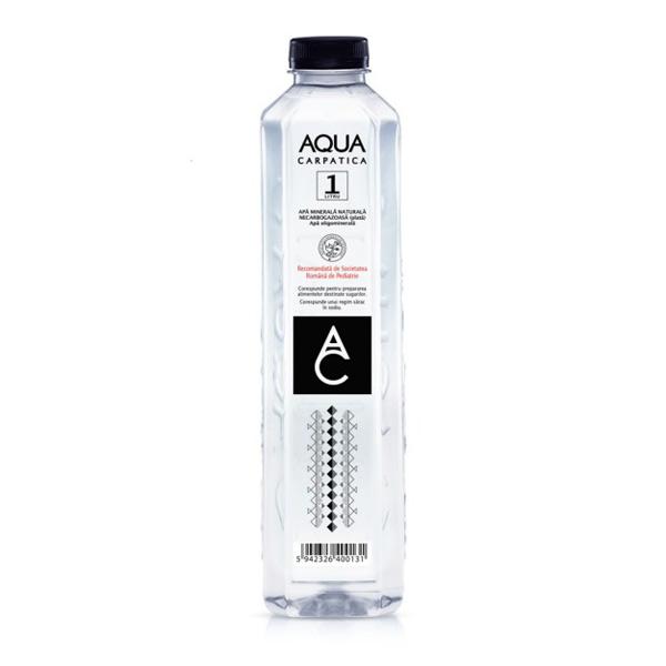 Aqua Carpatica - Apă minerală naturală plată 1 L.